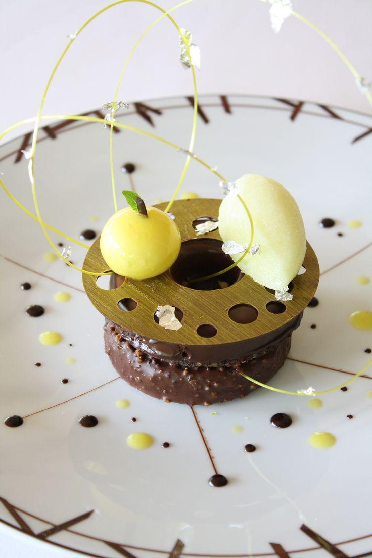 78 best art of plating images on pinterest food design credenzas chocolat yuzu fandeluxe Image collections