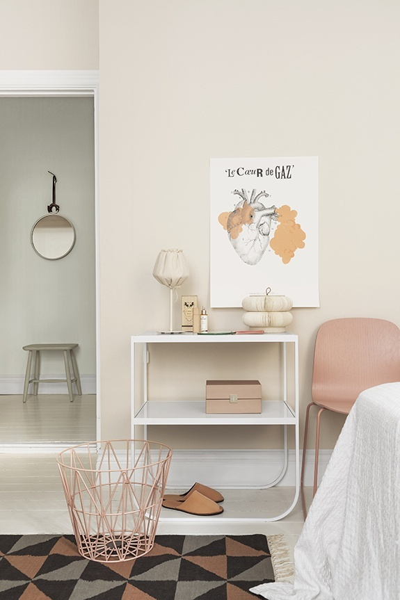 pinned by barefootblogin.com TATI by Asplund // VISU Chair by Muuto // Wire Basket by ferm Living