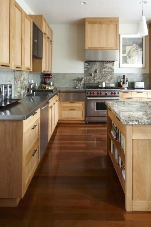 light maple cabinets how to clean kitchen backsplash with ... on Kitchen Backsplash With Natural Maple Cabinets  id=24974