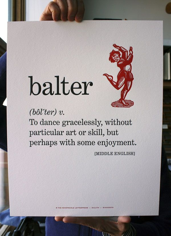 Balter.....i find myself doing this all the time...