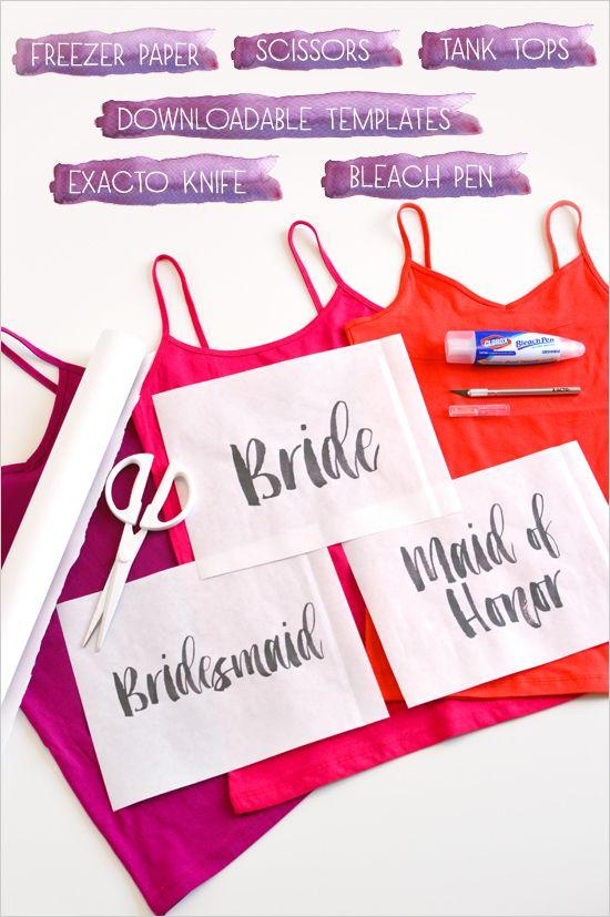 bleach shirt materials @weddingchicks