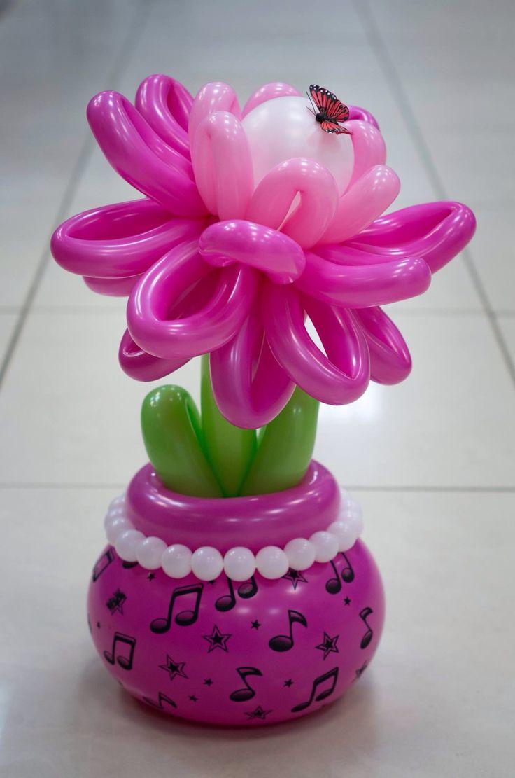 85 best balloon flowers images on pinterest for Balloon arrangement ideas