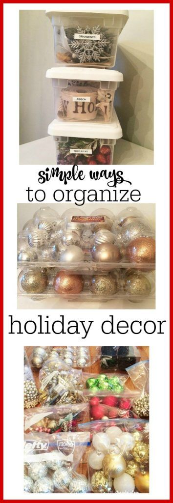 This post has great (and inexpensive) ideas to organize your holiday decor when you put it away after the holidays. Must do this to make next year easier!
