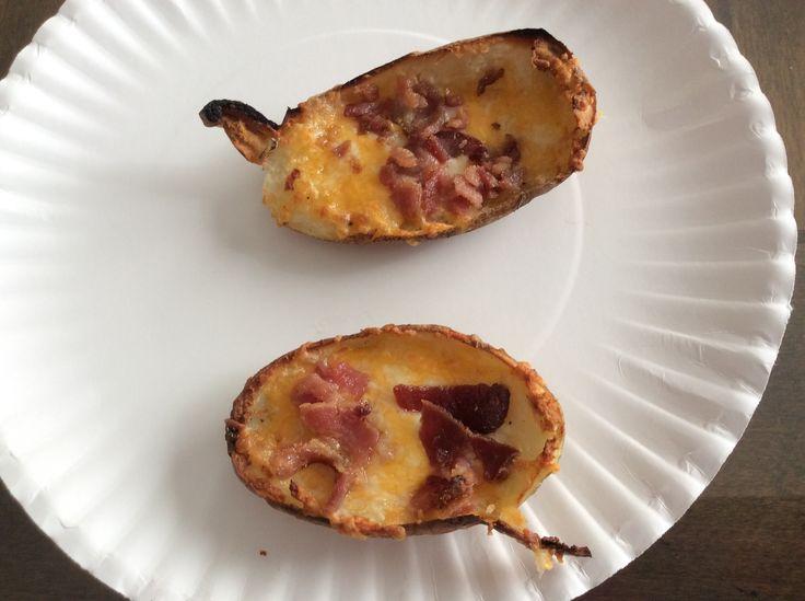 We made homemade potato skins!! 🥔🥔🥔🥔 -Zayda❣️💕💖