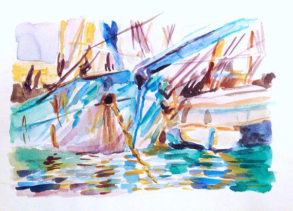 Sargent Study   original watercolor painting