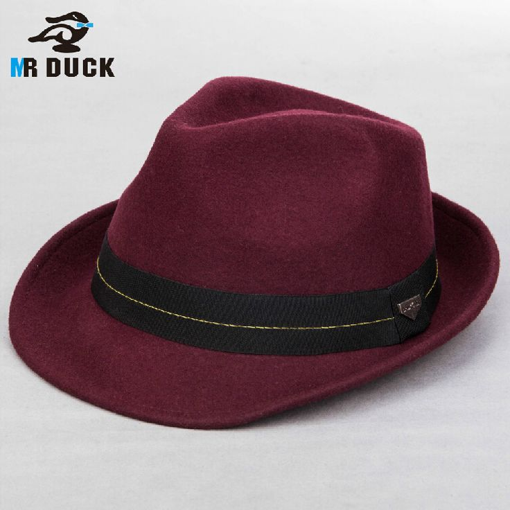 ==> [Free Shipping] Buy Best Winter Woolen Small Roll-up Brim Fedora Hats For men Jazz Trilby Hats Lovers Panama Free Shipping WMDW-035 Online with LOWEST Price | 32725329763