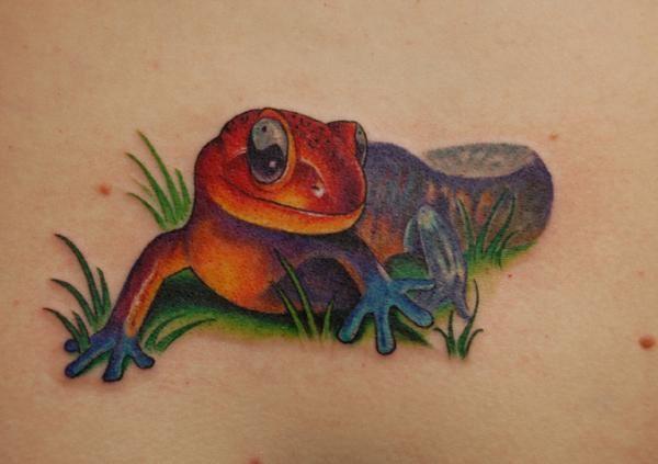 Quelle est la signification du tatouage de salamandre. Découvrez ici toute la signification du tatouage de salamandre, un tatouage populaire que l'on voit souvent aux chevilles ou sur les poignets. La salamandre est un amphibien noir avec des points jaune...