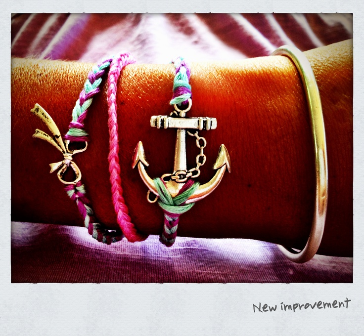 Anchor bracelet made myself