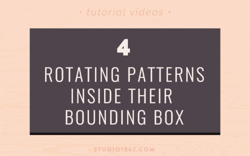 S1862 || Rotating Patterns Inside Their Bounding Box || adobe, illustrator, photoshop, design, tips and tricks, how to, rotate pattern, transform, rotate tool, transform palette, pattern size, quickly, zoom, graphic design, software, designer tips, efficiency, work faster, be more efficient, stay organized, area, of your design, don't want to, make a new pattern, edit the pattern, change, angle, uncheck, rotate tool options, transform palette options, transform pattern only, tutorial video