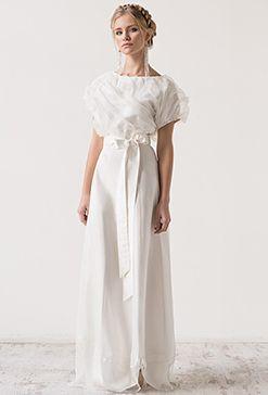 Свадебное платье из шелка Сloud