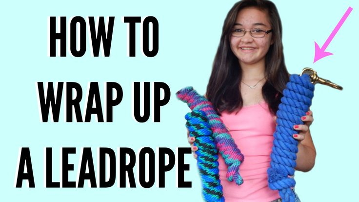 How to wrap up a lead rope like they do in the stores!  #lead #rope #horse #tie…