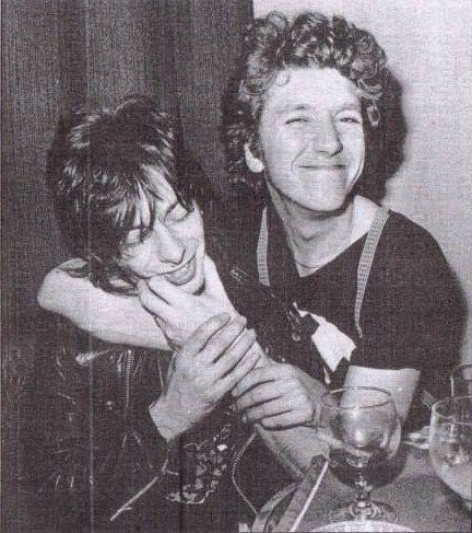 Steve Jones of the Sex Pistols with Nils Stevenson circa 1977-78.Photo by Ray Stevenson. via