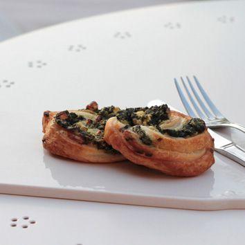 Feta-Spinat-Blätterteig Schnecken