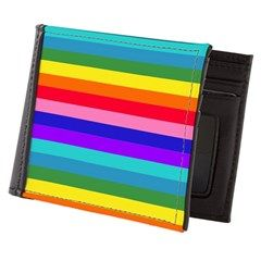 Stripes of Rainbow Colors Men's Wallet by Khoncepts.com