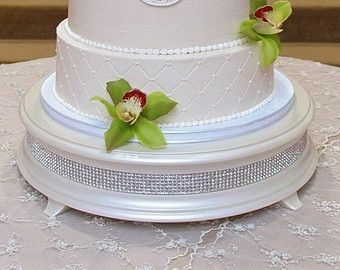 22 inch White Diamond Wedding Cake Stand by WeddingFads on Etsy