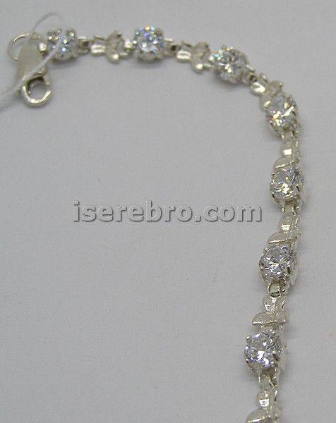 Серебряный браслет со вставкой - 306 грн 18 см