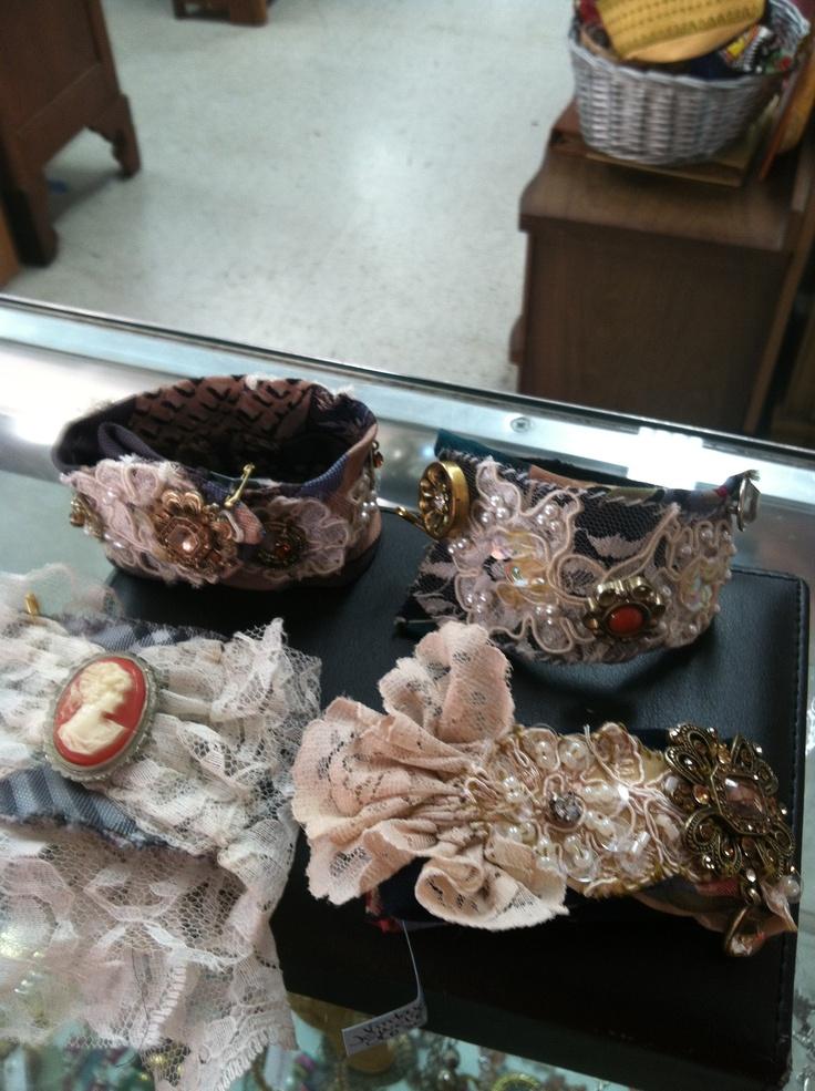 Vintage tie bracelets!