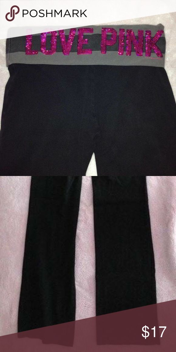 Victoria's Secret Pink Yoga Pants still in great condition! boot cut, not tight at the end PINK Victoria's Secret Pants