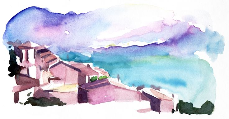 #christineberrington #meiklejohn #illustration #watercolour #traditional #stylised #landscape