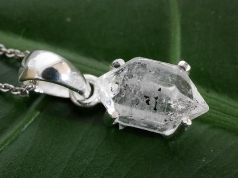 Herkimer Diamond pendant with chain