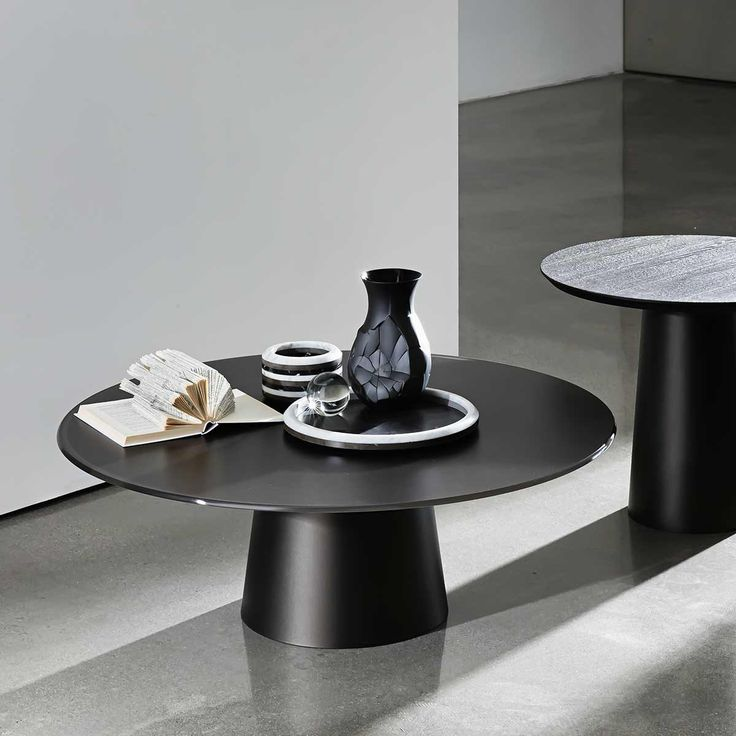 Totem Glass and Metal Coffee Table 35cm.h - Klarity