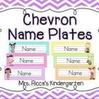 These colorful chevron name plates coordinate perfectly with my other chevron themed products! There are 48 unique name cards (8 designs x 6 colors...