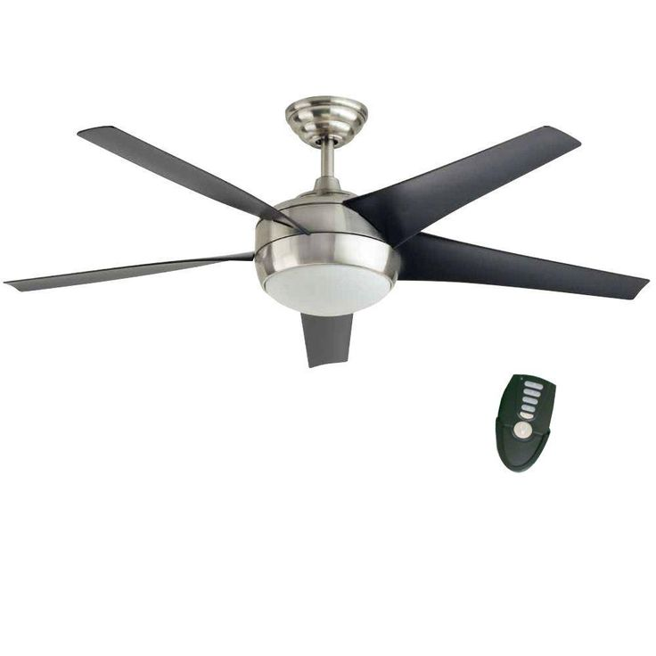 home decorators collection windward iv 52 in brushed nickel ceiling fan26663 the