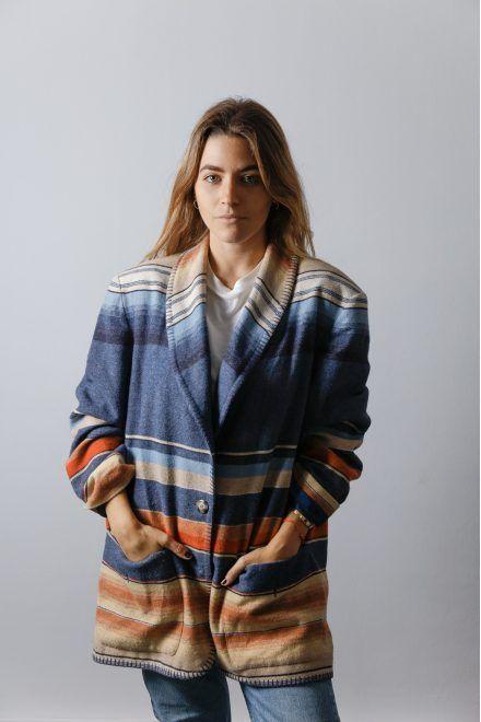 Vintage 90s Multi Colored Wool Native Coat