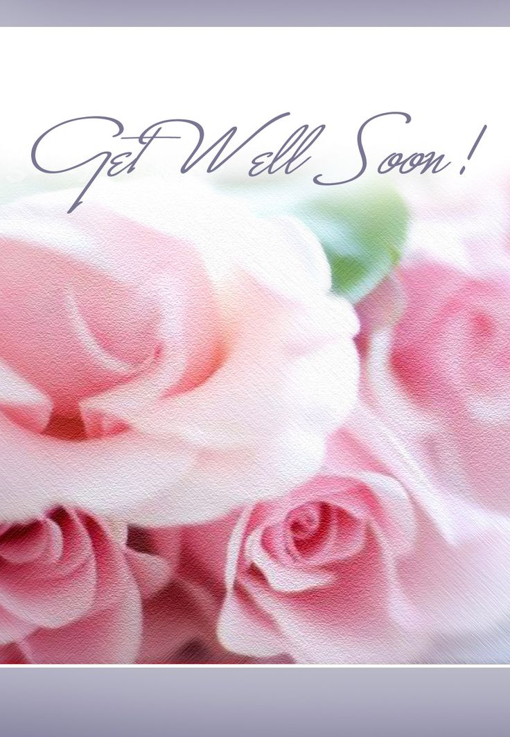 get well soon  card - pink roses