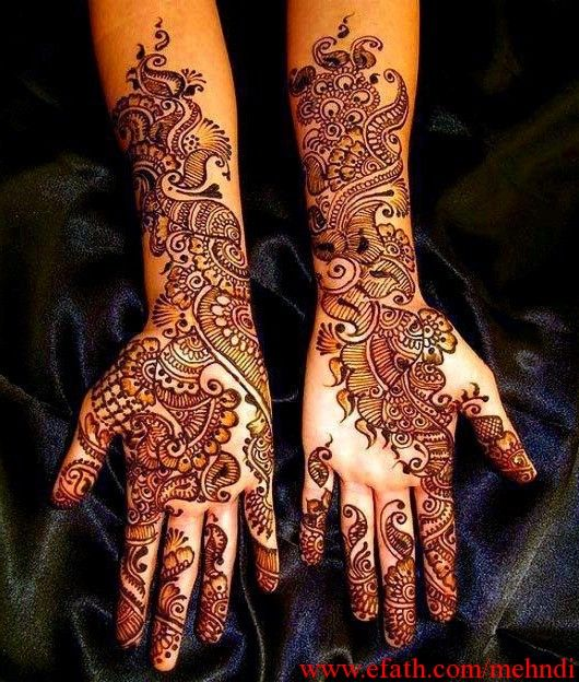 Full hand Bridal mehndi design