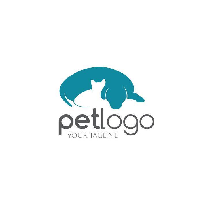 Mascotas tienda insignia Logo mascota logotipo del perro Cat