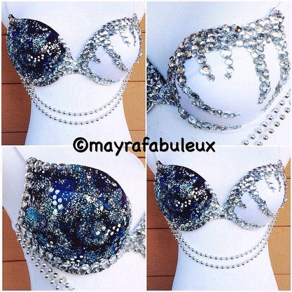 Bling Galaxy Rave Bra Mayrafabuleux Original by mayrafabuleux