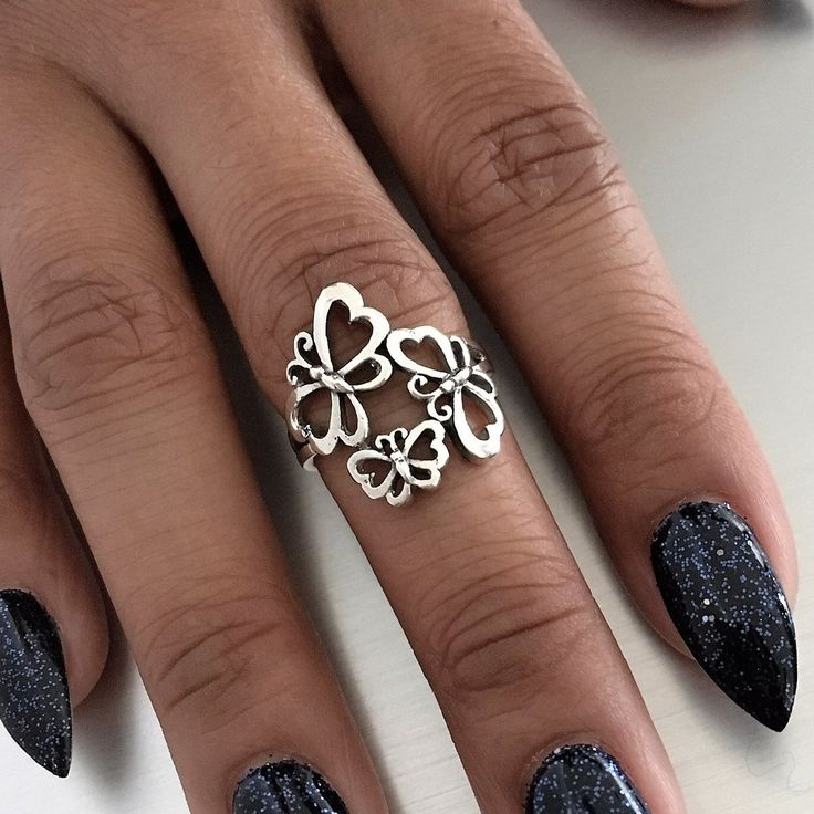 Sterling Sterling Butterfly Ring