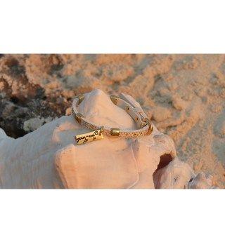 JT Off White Leather Bracelet