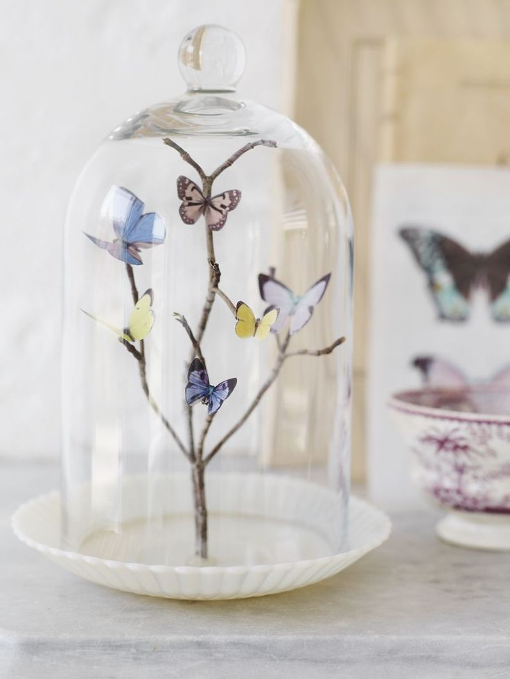 Sweet Paul's DIY paper butterfly terrarium is a charming addition to any room!