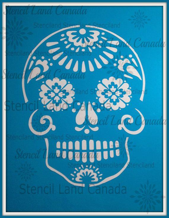 dia de los muertos  Sugar skull Day Of The Dead cake by Stenciland
