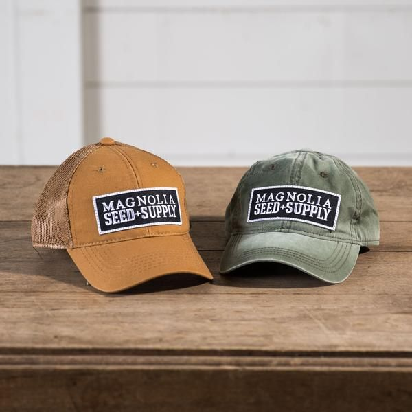 Available in two different colors, the Magnolia Seed + Supply Hat features the logo to our garden shop. Give it to your favorite gardener or wear it yourself ar