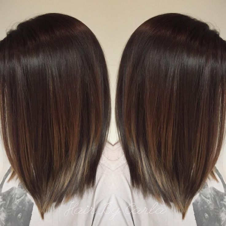 dark brown hair with subtle balayage