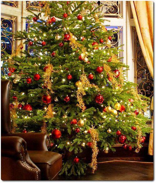 decoracao arvore de natal vermelha: Arvore De Natal Decorada no Pinterest