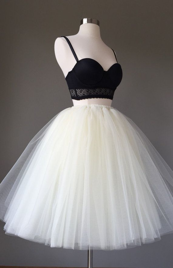 Light ivory Tulle skirt adult tutu 8 layer tulle by shopVmarie