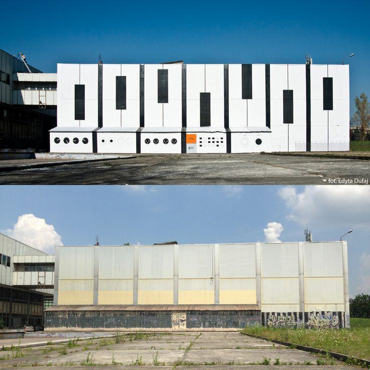 Audiomural NCK: Adiomural i ściana Nowohuckiego Centrum Kultury,...