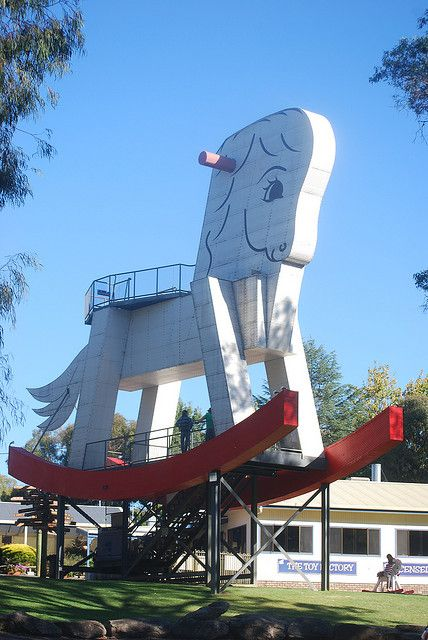 Giant Rocking Horse - Gumeracha, Adelaide Hills by Jade Craven, via Flickr • aussie big things • Adelaide's icons • South Australia • Australian culture • Australian humour