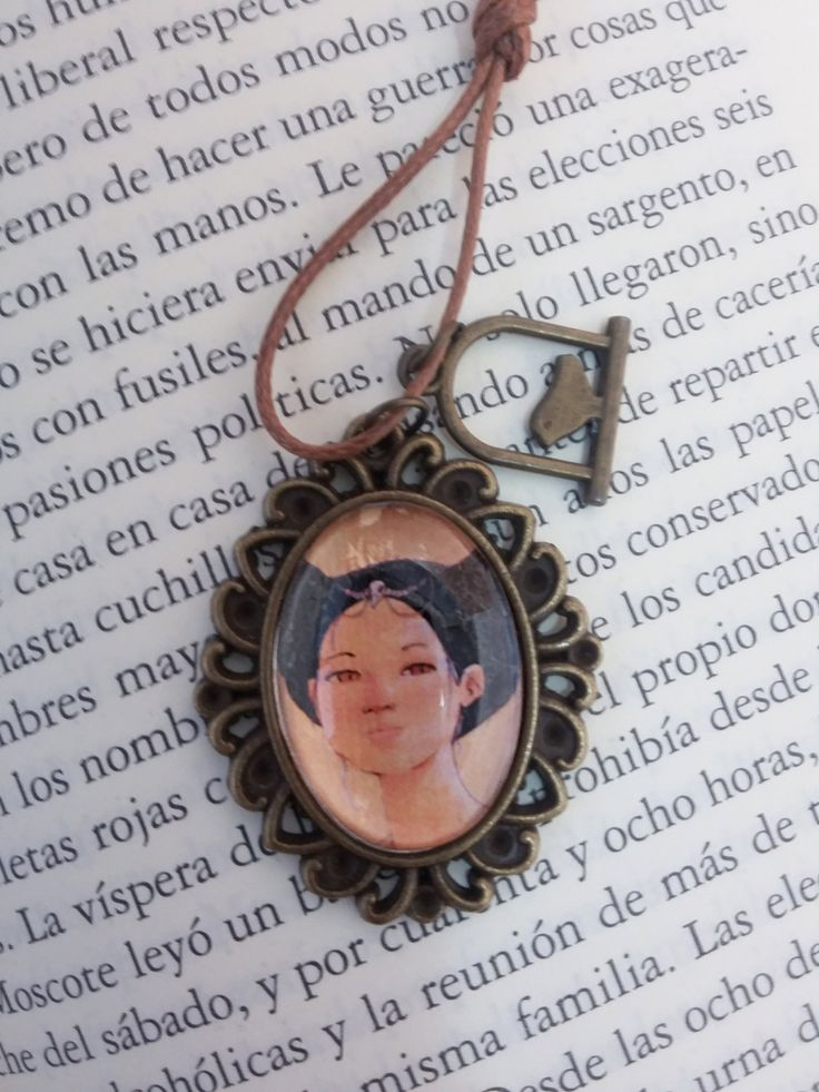 Woman with bird skull pendant by CanellaCrafts on Etsy