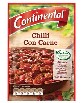Chilli con carne (great with pork mince)