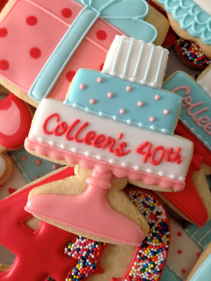 1000 Images About Birthday Cookies On Pinterest