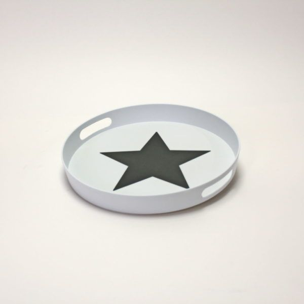 Sterntablett Sterntablett aus Kunstoff mit einem Durchmesser von 33cm. (Anti-Rut… – gluecksleben shop