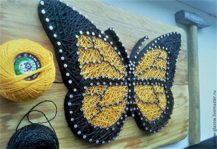 Бабочка в стиле String Art