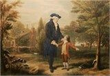 J's 7th Great Grandfather -Captain Augustine Washington Sr (Father of President George Washington) picture of Gus with his son George