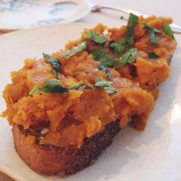 ABC Kitchen's Roasted Kabocha Squash Toast // thoughtsbynatalie.com