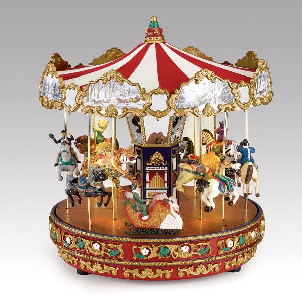 music boxes | The Grand Carousel Music Box w Moving Horses See Video | eBay